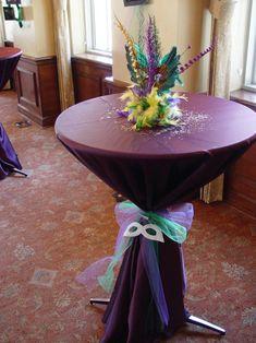 Mardis Gras Table Decor for Cocktail Hour