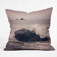 Catherine McDonald Northern California Beach Outdoor Throw Pillow | DENY Designs Home Accessories