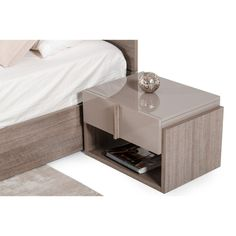 Purchase One Drawer and One Shelf Nightstand with Sleek Plank Shape Pull, Beige and Brown from Benzara Inc on OpenSky. Share and compare all Home. Shabby Chic Furniture, Living Room Furniture, Bed Furniture, Open Shelving, Shelves, 5 Piece Bedroom Set, Shelf Nightstand, Modern Light Fixtures, Plank