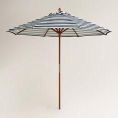 Cafe Stripe 9 ft Umbrella Canopy | World Market