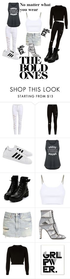 """Girls Run the World"" by ari0907 ❤ liked on Polyvore featuring adidas, Alexander Wang, Sergio Rossi, Helmut Lang, Stupell, girlpower, powerlook and plus size clothing"