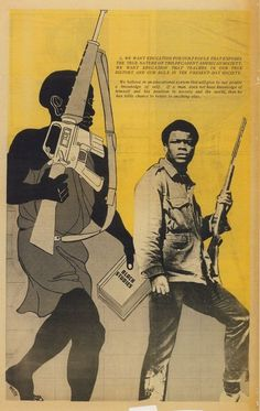 The Black Panther Party (May 11, 1969).  [follow this link to find a bundle of videos and analyses related to the sociological study of social movements: http://www.thesociologicalcinema.com/1/category/social%20mvmtssocial%20changeresistanceb9cde5376b/1.html]  Artist: Emory Douglas