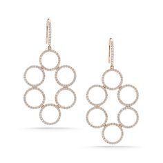 Emily Meredith Diamond Earrings in 14k Rose Gold