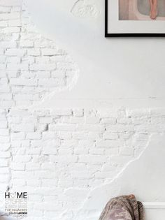 WALL: white bricks with some solid smooth areas for a mix of textures