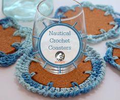 Nautical Crochet Coasters! Four free #crochet patterns on Mooglyblog.com!