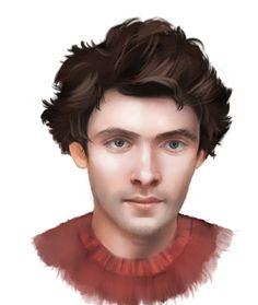 Portrait art of the actor Colin Morgan of Merlin, Humans, The Fall, The Crown, etc. Sherlock Holmes Benedict Cumberbatch, Benedict Sherlock, Watson Sherlock, Sherlock John, Portrait Art, Portraits, Colin Morgan, Jim Moriarty, John Martin