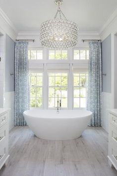 45 Stunning White Bathroom Decorating Ideas For Small House - nicolette news Interior Exterior, Bathroom Interior Design, Crystal Bathroom Lighting, Bathtub Lighting, Diy Bathroom, Small Bathroom, Bathroom Ideas, Target Bathroom, Bathroom Canvas