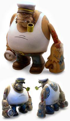 #ToyDesign Da Minci Popeye