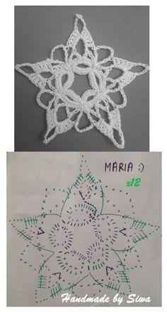 Crochet Snowflakes, Free Crochet, Crochet Earrings, Crochet Patterns, Button, Christmas, How To Make, Handmade, Crafts