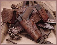 Looking for Wild Bunch holster & mag carrier 1911 Holster, Gun Holster, Western Holsters, Cowboy Holsters, Custom Leather Holsters, Cowboy Action Shooting, Airsoft, Rifles, Cowboy Gear
