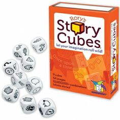 Rory's Story Cubes is a pocket-sized creative story generator, providing hours of imaginative play for all ages. With Rory's Story Cubes, anyone can become a great storyteller and there are no wrong answers. Simply roll the cubes and let the pictures spark your imagination!