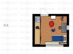 De plattegrond van mijn nieuwe kamer