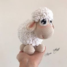 Good morning everyone 🤗❣️ I brought a very, very, very sweet lamb today Crochet Animal Patterns, Stuffed Animal Patterns, Amigurumi Patterns, Amigurumi Doll, Crochet Animals, Crochet Sheep, Cute Crochet, Crochet Toys, Knit Vest Pattern