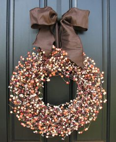 Fall Wreaths Autumn Wreaths WREATHS Shabby Chic by twoinspireyou