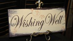 WISHING WELL Sign/Wedding Sign/Reception/U by gingerbreadromantic, $21.95