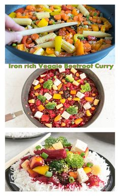 Iron Rich Veggie Beetroot Curry! Healthy and vegan meal with only 152 calories and ready in minutes.