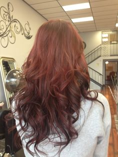 Reverse Ombre Redhead images