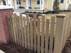 Bronco Fence. This is an awesome and unique fence. They used our cedar slats and then used Lifetime finish to make it look like a weathered fence. Amazing!