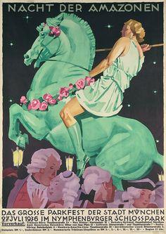 Ludwig Hohlwein - Nacht der Amazonen, 1936