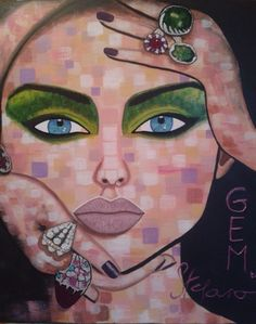 Gem by STEFANO acrylic on canvas(50x60cm) fashion art 2015