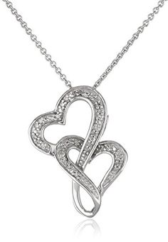 "Sterling Silver Interlocked Heart Pendant Necklace, 18"" Amazon Curated Collection http://www.amazon.com/dp/B005CYLIEQ/ref=cm_sw_r_pi_dp_VyP8ub0TGBE04"