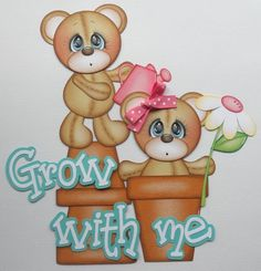 Premade Paper Pieced Grow with Me Set for Scrapbook Pages-by Babs