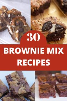 Brownie Mix Desserts, Brownie Mix Recipes, Brownie Mix Cookies, Cake Mix Recipes, Baking Recipes, Cake Mixes, Summer Dessert Recipes, Desserts For A Crowd, Healthy Dessert Recipes