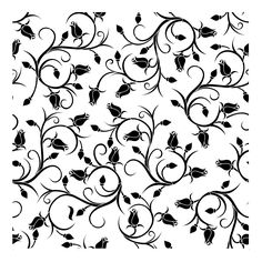 "(NEW) Rosy Vines 20"" x 20"" Large Format Stencil by Artisan Enhancements"