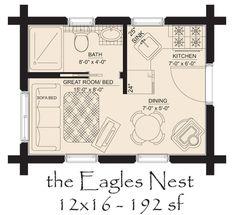one room cabin floor plans | Hickory Spring Log Home Floor Plans