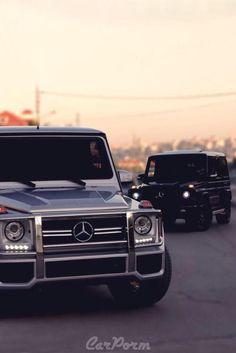 Black & Silver G-Class'