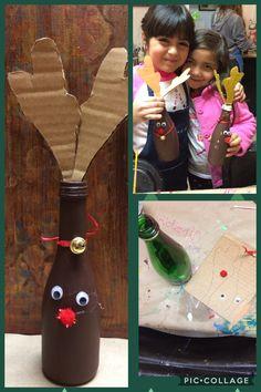 # manualidad Infantil #botella de reno