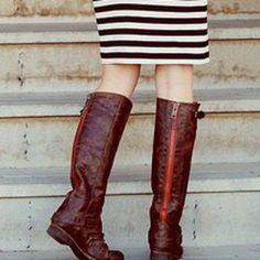 boots + stripes = :)