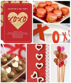 Valentine's Day Party inspiration board for all the #glitter lovers