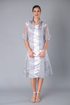 Living Silk - Celebrate in silk - Organza Jacket - Silver - Event Dressing - Living Silk