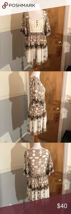 Free people dress Printed dress with adjustable sinched waist Free People Dresses Mini