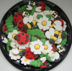 cookies with lady bugs and daisies.
