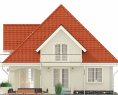 Proiect-casa-cu-Mansarda-18011-fatada3 Home Building Design, Building A House, Modern Tv Room, Bungalow Style House, House Design Pictures, Dream Home Design, Facade House, Design Case, Home Fashion