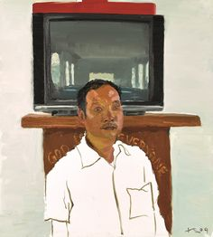 LIU  XIAODONG The Son, oil on canvas 100 x 90 cm. Painted in 2009