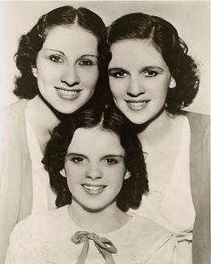 The Gumm Sisters, Francis Ethel Gumm, aka Judy Garland.  Vintage celebrity.