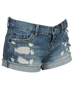 Ripped Blue Jean Shorts ♥ | Shorts | Pinterest | Spine Tempo d