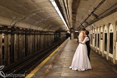 New York City Subway Trash The Dress or Suit or Wedding Attire :: Kelly Prizel