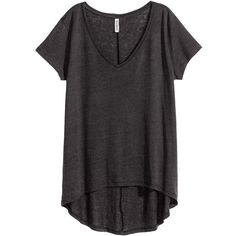 Jersey Top $12.99 ($13) ❤ liked on Polyvore featuring tops, short sleeve tops, v neck jersey, h&m tops, v neck jersey top and h&m