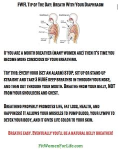 http://fitwomenforlife.com Breathe With Your Diaphragm!