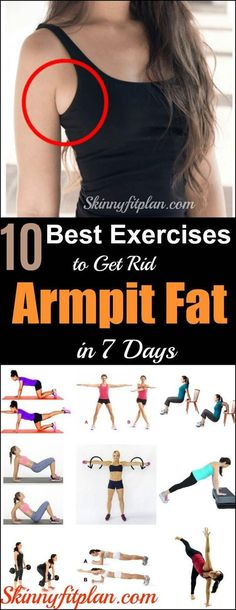 Fitness Best Armpit Fat Exercises to Get Rid of Underarm Fat in 7 Days. - Do you have armpit fat or saggy arms that makes you feel less confident about yourself? Find here armpit fat exercises to get rid of underarm fat in a week. Fitness Workouts, Fitness Motivation, Fitness Tips, Workouts To Burn Fat, Ab Workouts, Fitness Quotes, Fitness Goals, Cardio, Health Fitness