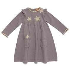 Baby falling star dress  i like the idea of just sewing the stars on. its also too hard to find good fabric with big stars.-ca