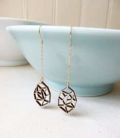 Laser cut bamboo jewelry by theharbingerco on Etsy