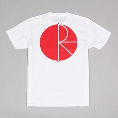 Polar Fill Logo Tee White Red