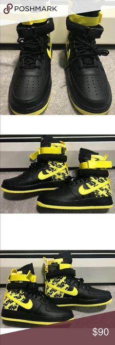 Nike SF AF1 Air Force One High Black & Yellow NWT