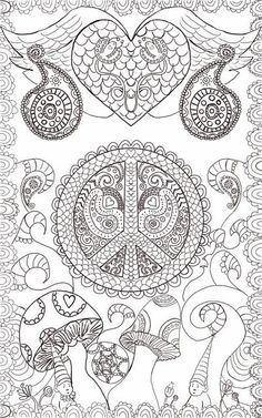Hippie Custom Coloring Book, coloring book pages you choose, Design ...