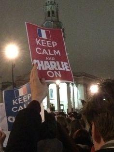 """Keep calm and Charlie on"" #jesuischarlie #london"